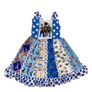 Toy Story Print Boutique Twirl Dress Blue & White